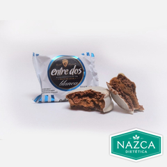ALFAJOR CHOCOLATE BLANCO ENTRE DOS X 60 Gr