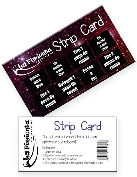 RASPADINHA STRIP CARD - CÓD 4025