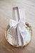 Handmade white pearl christening candle
