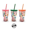 VASO PLASTICO CONFETTI HAPPY DAY