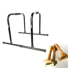 Combo Calistenia Paralelas + Push Up Bar Madera Drg Fitness