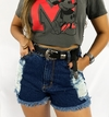 Shorts jeans alto destroyed premium lady rock