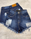 Shorts jeans cós alto lady rock Leticia