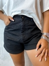 Shorts MOM jeans black lady rock