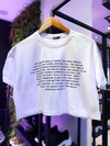 "cropped t shirts znl ""really"""