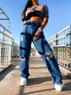 Calça jeans wide leg ready na internet