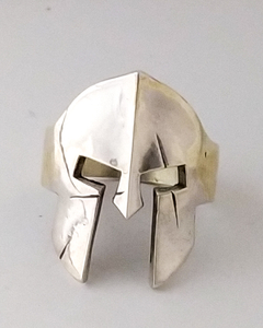 ANILLO SKULL. CASCO ESPARTANO. PLATA 925 en internet