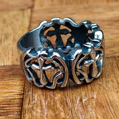 Anillo Medieval Mil Cruces Acero - comprar online