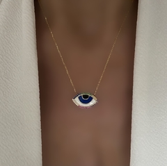 CADENA EVIL EYE COLORFULL GOLD