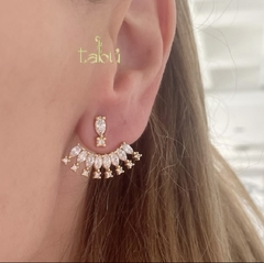EAR JACKET GOLD CZ - comprar online