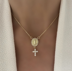 CADENA VIRGEN DE GUADALUPE & CROSS GOLD