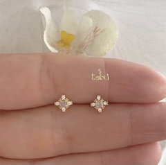 ARETES STAR MINI PINK GOLD