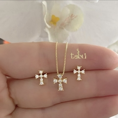 CONJUNTO CROSSES GOLD