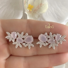 ARETES GLAM PINK SILVER