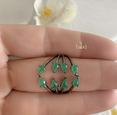 ANILLO EMERALD BLACK