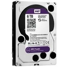 HD WD PURPLE 6TB SATA2 7200RPM - (ESPECÍFICO PARA DVR INTELBRAS)
