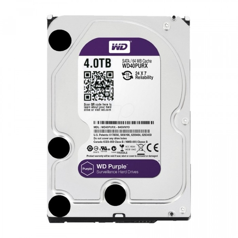 HD 4TB SATA2 5400RPM CFTV WD PURPLE