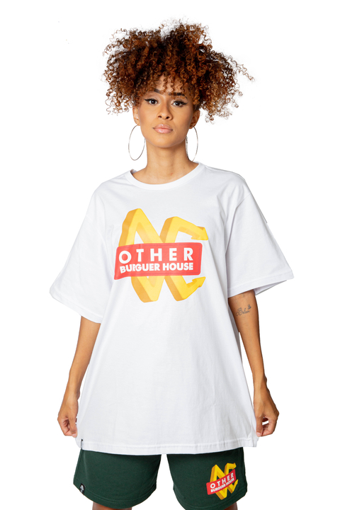 Other Culture - Camiseta Burguer House Branco