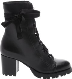 Combat Boot Lace Up Black - SCHUTZ