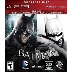 BATMAN ARKHAM ASYLUM + BATMAN ARKHAM CITY WARNER - PS3