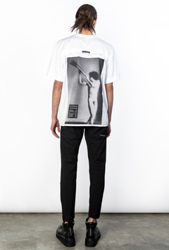 WHITE FLAT T-SHIRT on internet