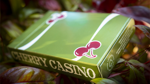 Baraja Cherry Casino Fremonts Sahara Green Playing Cards Verde