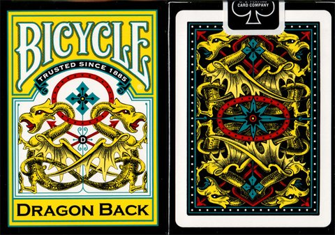 Baraja Bicycle Dragon Back Playing Cards Yellow Amarillo