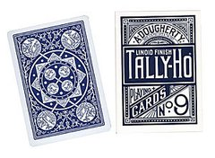 Baraja Tally Ho Fan Back Blue Azul
