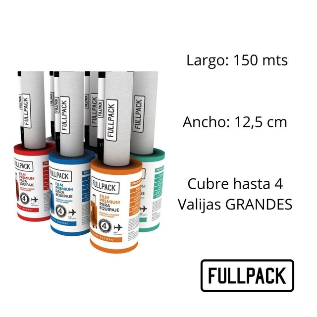 KIT Film Strech Premium Equipaje x6 Fullpack en internet
