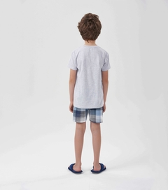 Pijama Manga Curta Menino -  just be you na internet