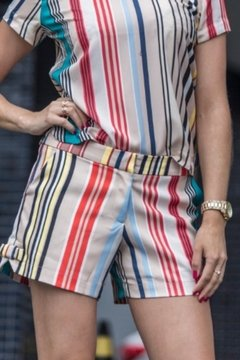 Shorts alfaiataria Stripe