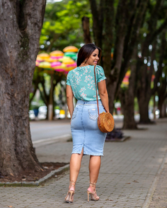 BLUSA ESTAMPADA FLORZINHA ref 50129 - Joy Fashion