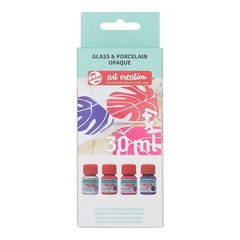 Glass & Porcelain Opaque Set 4 x 30 ml Florales Art Creation