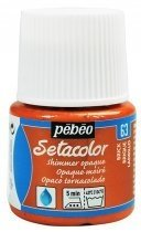 Setacolor Pebeo - Shimmer Opaque (Tornasolado)- 63 Brick 45 ml. en internet