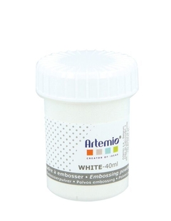 Polvo de embossing 40ml. Artemio Blanco