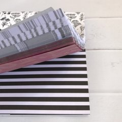 "Block surtido  ""Black and white"" 15x15 cm 120 papeles - tienda online"