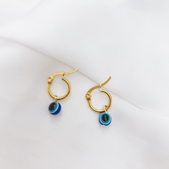 Argollas nazar ball azul