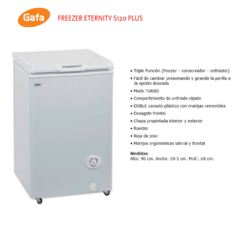 Freezer Gafa S120 Eternity Full Blanco - comprar online