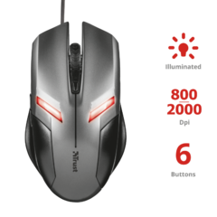 MOUSE GAMING TRUST ZIVA - comprar online