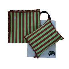 Kit 1 Canga Quadrada + Beach Pillow + Ecobag