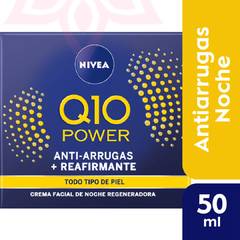 Crema Facial Anti-Edad NIVEA Q10 POWER Regeneradora De Noche 50 ml
