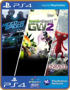Pacote Familiar Need for speed / plants VS zombies / Unravel - comprar online