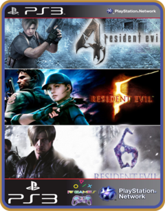 Ps3 Resident Evil Franchise Pack Original Mídia Digital