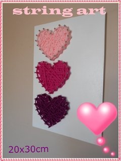 TABLITA para string art CORAZONES 20x30 en internet