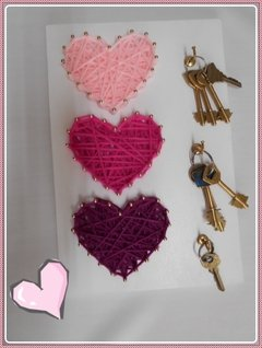 TABLITA para string art CORAZONES 20x30