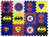 Pisos Goma Eva Encastrable Pack x  25 Unidades 10 mm Mix Super Heroes