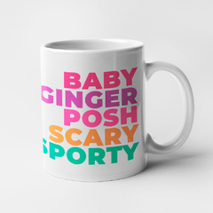 CANECA SPICE GIRLS (SCARY, BABY, GINGER, POSH, SPORTY)