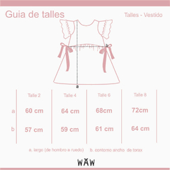 WAW KIDS | VESTIDO FRESIA GIRLS - little MOD