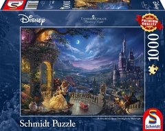 (1206) Beauty and the Beast Dancing in the Moonlight; Kinkade - 1000 peças - comprar online