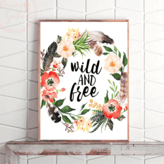 CUADRO WILD AND FREE - comprar online